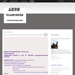 FICHE ANALYSE HDA: les linges de Christian BOLTANSKI - Le blog des Arts Plastiques du college Barbot