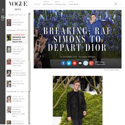Raf Simons Quits Christian Dior Creative Director