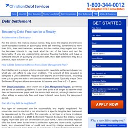 Debt Settlement at Christiandebtconsolidation.org