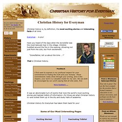 Christian History for Everyman