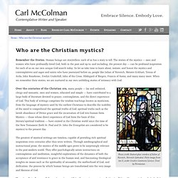 Christian Mysticism | Anamchara • The Website of Unknowing