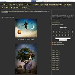 220) Christian SCHLOE, - De L'ART et C'EST TOUT...sans paroles excessives, chacun y mettra ce qu'il veut...