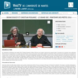 Bruno Doucey et Christian Poslaniec - Le grand XXe : Printemps des poètes 2016