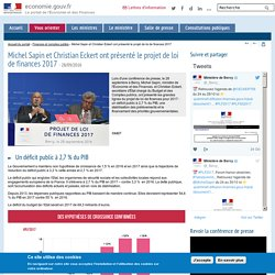 Michel Sapin et Christian Eckert ont présenté le projet de loi de finances 2017