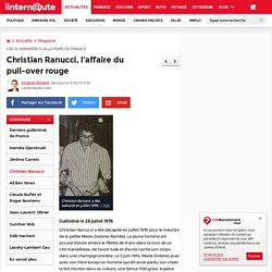 Christian Ranucci, l'affaire du pull-over rouge