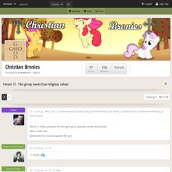 Christian Bronies - This group needs true religious values - quotes about women