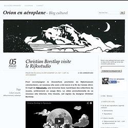 Christian Borstlap visite le Rijksstudio