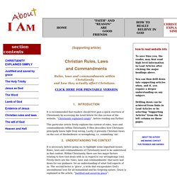 Christian rules, laws and commandments