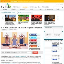 Is It Anti-Christian To Teach Yoga In Schools?