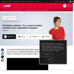 """Christiane Lambert : """"Il y a aussi de belles réussites dans l'agriculture française"""""""