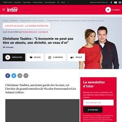 """Christiane Taubira : """"L'économie ne peut pas être un absolu, une divinité, un veau d'or"""""""