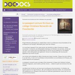 Le passeport Lecture/Ecriture au collège Christiane Bernardin de Francheville