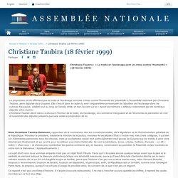 Christiane Taubira (18 février 1999) - Histoire - Grands moments d'éloquence