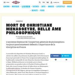 Mort de Christiane Menasseyre, belle âme philosophique