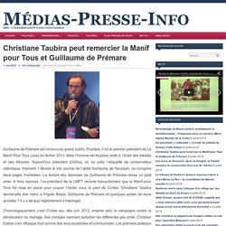 Guillaume de Prémare, ex-président de la LMPT, raconte que la Manif pour Tous fut mise en place pour couper l'herbe sous le pied de Civitas.