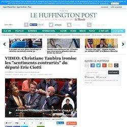 """VIDEO. Christiane Taubira ironise les """"sentiments contrariés"""" du député Eric Ciotti"""
