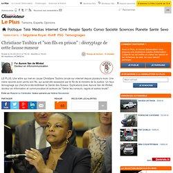 """Christiane Taubira et """"son fils en prison"""" : décryptage de cette fausse rumeur"""