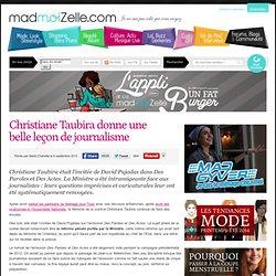 Christiane Taubira donne une belle leçon de journalisme