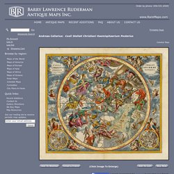 Coeli Stellati Christiani Haemisphaerium Posterius - Barry Lawrence Ruderman Antique Maps Inc.