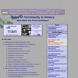 Types of Christianity in History: Who Were the First Christians?