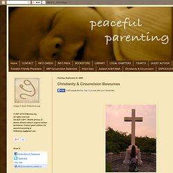 Christianity & Circumcision Resources