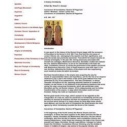 Christianity, Conversion Of Constantine: Decline Of Paganism