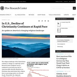 In U.S., Decline of Christianity Continues at Rapid Pace