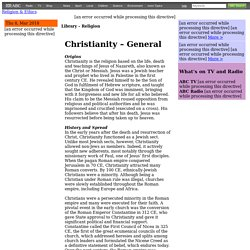 Christianity – General