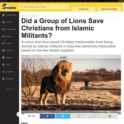 FACT CHECK: Did a Group of Lions Save Christians from Islamic Militants?