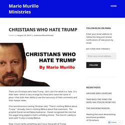 Christians who hate Trump