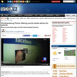 Christiansburg Police offering social media advice for parents