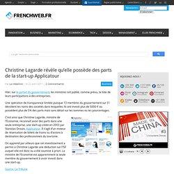 Christine Lagarde révèle qu'elle possède des parts de la start-up Applicatour