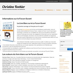 Sources d'informations sur le Forum Ouvert | Christine Koehler