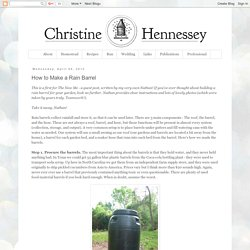 Christine Hennessey: How to Make a Rain Barrel