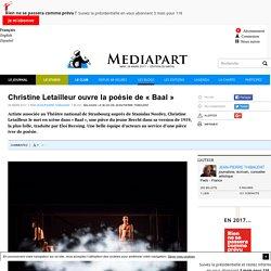 Christine Letailleur ouvre la poésie de «Baal»