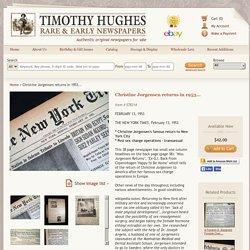 Christine Jorgensen returns in 1953... - RareNewspapers.com