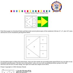Christine Thresh's Paper Piecing Primer