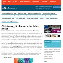 Christmas gift ideas at affordable prices