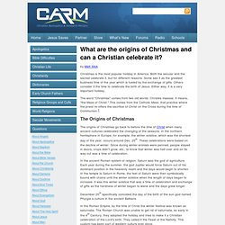 Can a Christian celebrate Christmas?