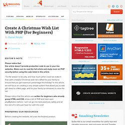 Create A Christmas Wish List With PHP (For Beginners)