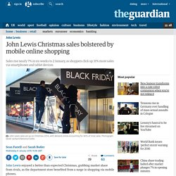 John Lewis Christmas sales bolstered by mobile online shopping
