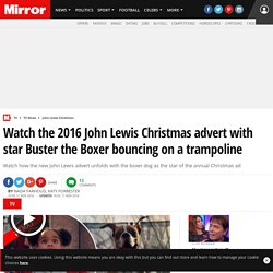 Watch the 2016 John Lewis Christmas advert with star Buster the Boxer bouncing on a trampoline