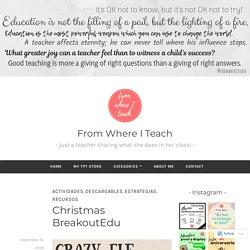 Christmas BreakoutEdu – From Where I Teach
