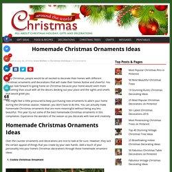 Homemade Christmas Ornaments Ideas Christmas Celebrations
