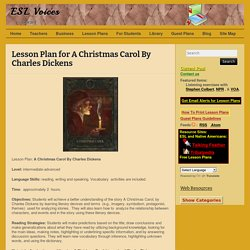 Lesson Plan for A Christmas Carol By Charles Dickens