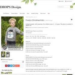 Frosty's Christmas Kids / DROPS Children 30-28 - Free knitting patterns by DROPS Design