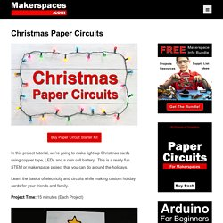 Christmas Light-up Cards w/ Paper Circuits