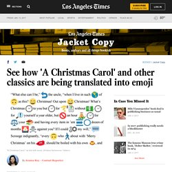 See how 'A Christmas Carol' and other classics are being translated into emoji