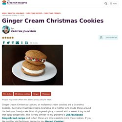 Ginger Cream Christmas Cookies-The Kitchen Magpie