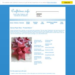 "Christmas Paper Crafts - Learn how to make a German paper star ""Froebel Star"""